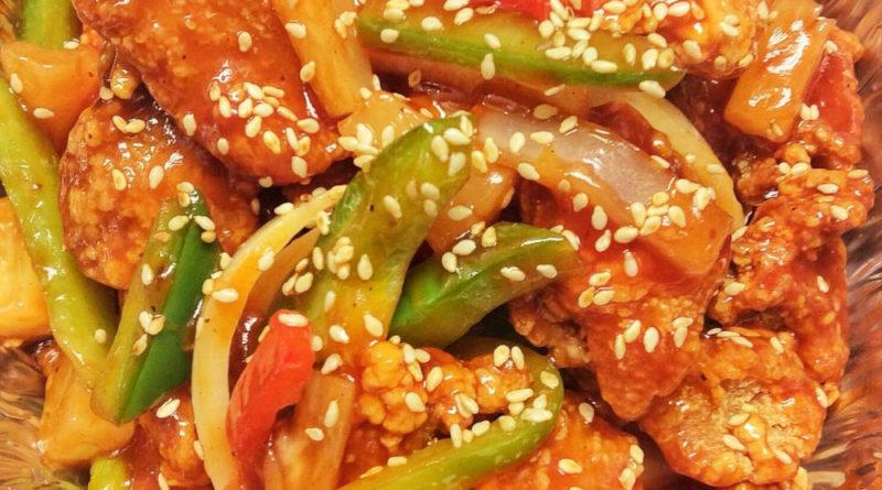 Cómo hacer pollo cantonés con piña