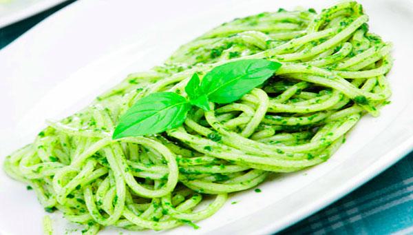 receta de tallarines verdes