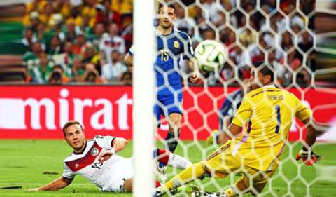 El gol de Gotze le dio a Alemania el triunfo sobre Argentina. Mundial 2014