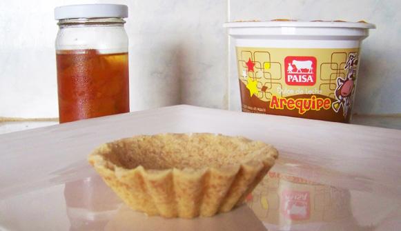 tartaleta de arequipe y kumquat