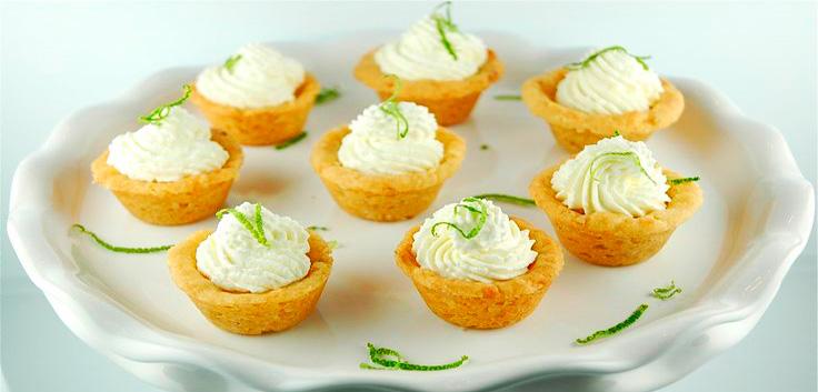 Tartaletas de Limón, mini pies de limón