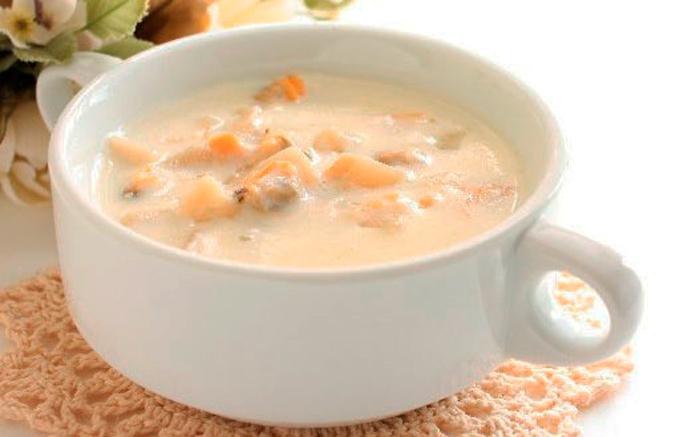 Sopa de almejas, para el frío