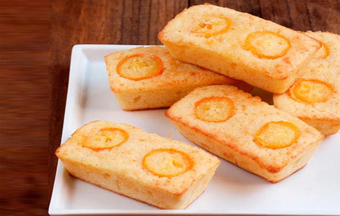 Biscochos financieros de kumquats confitadas