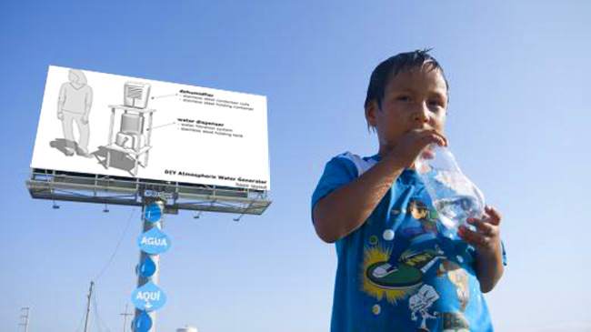 agua potable sacada el aire