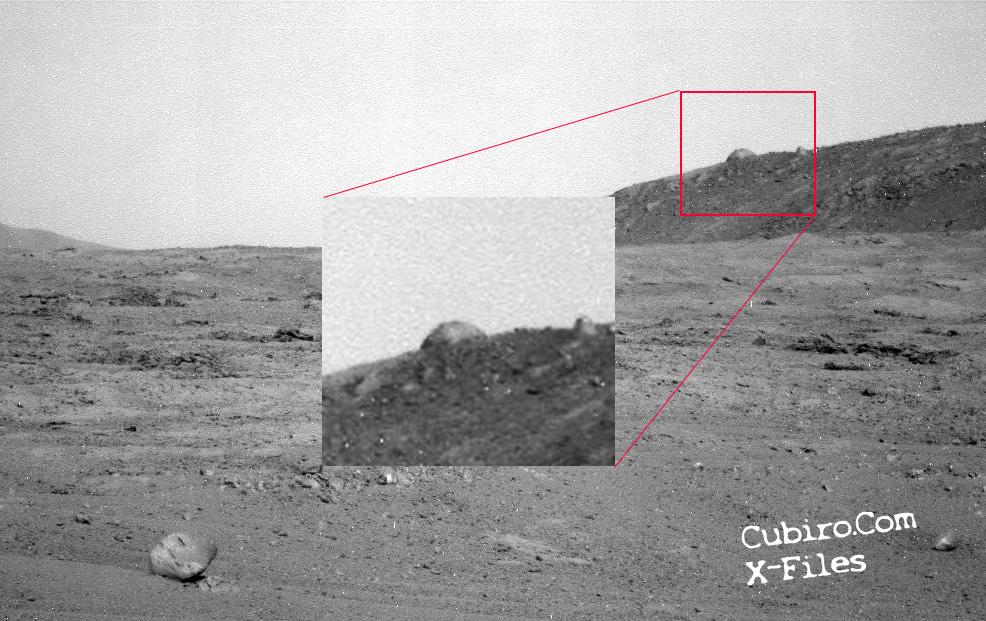 ¿Qué es esto fotografiado por el Oportunity en Marte?