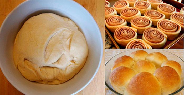 Como hacer masa para pan dulce, cinnamon rolls y golfeados
