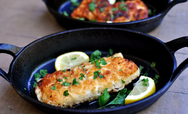 Filete de pescado a la Meunière