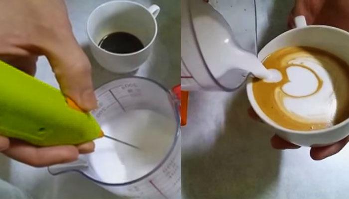 Cómo hacer Arte Latte con un mini batidor eléctrico