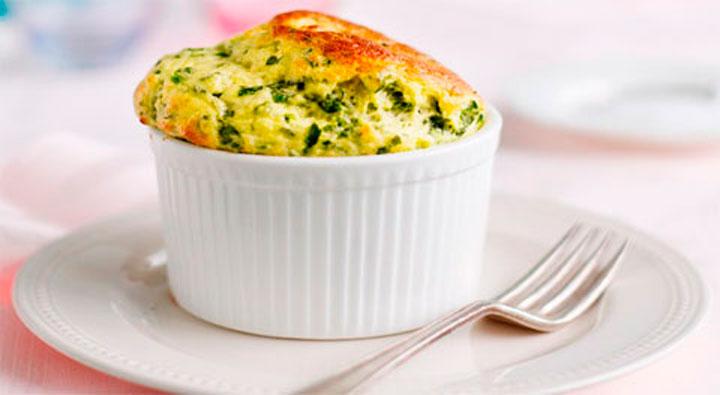 Soufflé de zucchini y queso ricotta