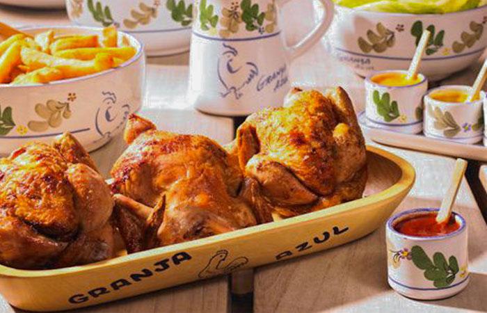 Pollos asados La Granja Azul