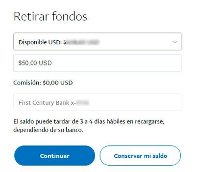 cómo transferir dinero de Paypal a tu bolsillo