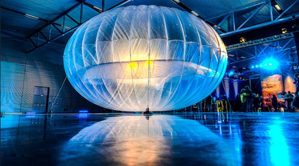 Uno de los globos del proyecto Google loon