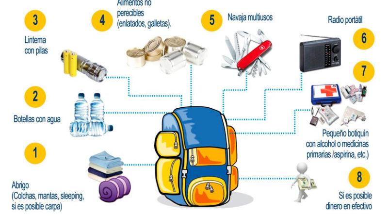 Cómo armar la mochila de emergencia
