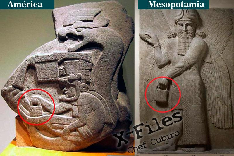 El misterioso bolso de mano de los dioses, representado en Sumeria, América y Göbekli Tepe