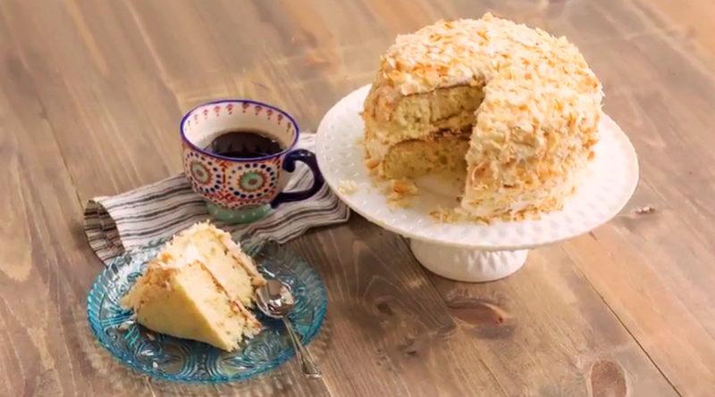 Como hacer una rica y atractiva torta de coco sin horno