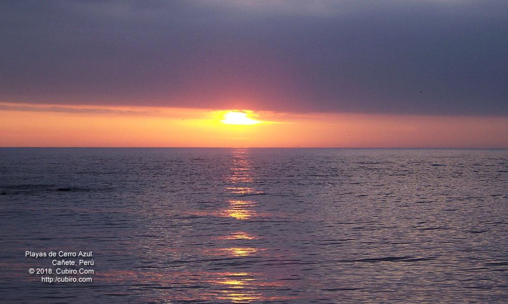 Puesta de sol en Cañete