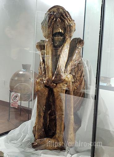 Momia paracas en el museo de chincha