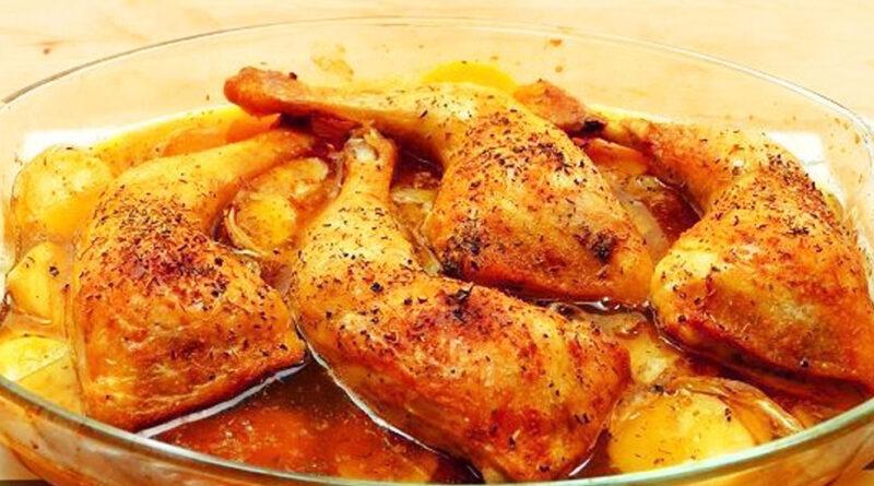 Pollo a la cerveza horneado