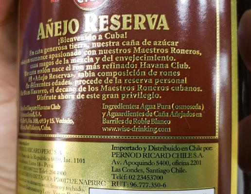 Ron Havana Club ingredientes Ron bueno, ron malo, y las trampitas de algunas tiendas en Perú