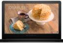 Torta de coco con dulce de leche en cocina de inducción