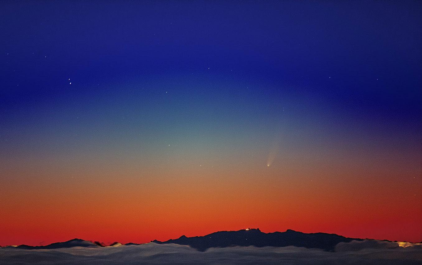 ISON al 24 noviembre. Imagen desde el Observatorio Teide. Canarias.