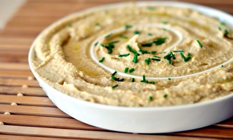 como hacer receta de hummus o salsa crema de gabanzos