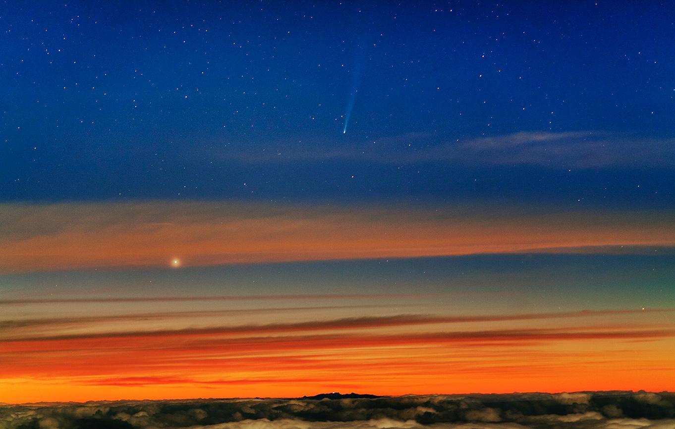 ISON al 21 noviembre - imagen desde Tenerife